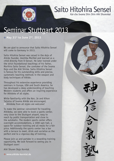 International Seminar in STUTTGART, GERMANY