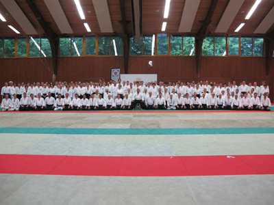 Over 140 people from 15 countries attended a seminar with Saito Hitohira Kaicho in Stuttgart, Germany.