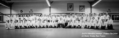 SAITO Hitohira sensei – International seminar in Rennes. France – Nov.2014.