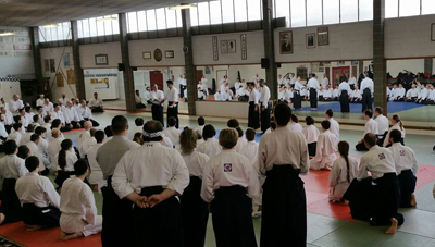 During Waka sensei seminar 2016