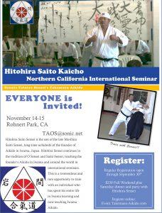 Saito Hitohira Kaicho Northern California International Seminar November 2015