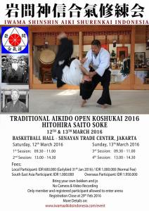 TRADITIONAL AIKIDO OPEN KOSHUKAI 2016 IN INDONESIA