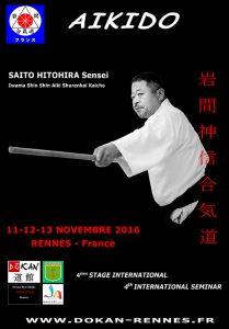 SAITO SENSEI SEMINAR 11-13 NOVEMBER 2016 IN RENNES