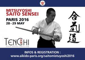 MITSUYOSHI SAITO SENSEI IN PARIS – MAY 2016