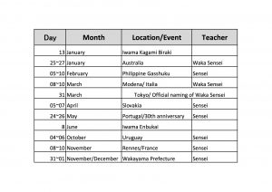 2019 Event and seminar calendar