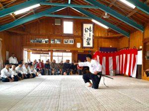 2020 Kagami Biraki ceremony at Iwama honbu dojo
